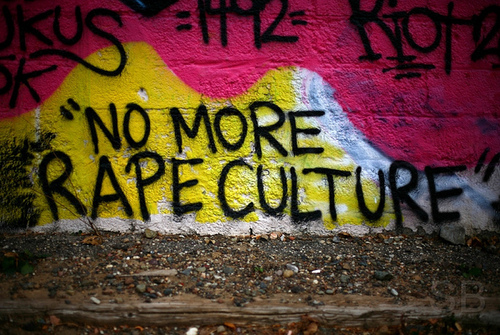 Graffiti Mural Reading No More Rape Culture