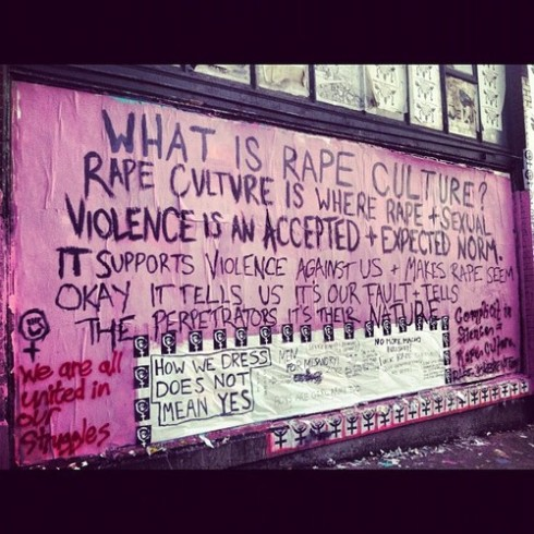 Seattle Grrrl Army Anti-Rape Culture Mural