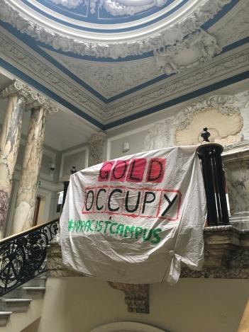 Banner at entrance