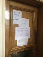 Signposting on prayer/quiet room